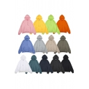 Casual Guys Hoodie Sherpa Lined Long Sleeve Drawstring Pouch Pocket Plain Loose Fit Hoodie
