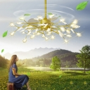 Ball/Firefly 3-Blade Hanging Fan Light Creative Modern Metal 6/8/56-Bulb 43