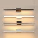 Small/Medium/Large Linear Vanity Wall Light Simple Aluminum Black/White LED Wall Lighting in Warm/White Light