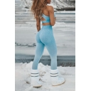 Womens Sexy Co-ords Cut Out Halter Fit Crop Tank & Fitted Leggings Plain Set