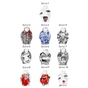 Hot Popular Ahegao Comic Girl 3D Printed Long Sleeves Round Neck Pullover Hoodie with Pocket