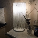 Crystal Tassel Chain Night Lamp Modern 1 Head Chrome Finish Table Light for Bedside