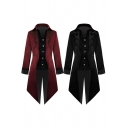 Unique Womens Jacket Floral Embroidered Long Sleeve Spread Collar Button Up Irregular Hem Longline Relaxed Jacket