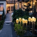 Tulip Shaped Wiring/Solar Stake Lamp Art Deco Acrylic Clear LED Lawn Light in Warm/White Light, 1 PC