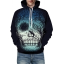 Unisex Hoodie 3D Skull Tribal Tiger Pattern Long Sleeve Drawstring Pouch Pocket Relaxed Unique Hoodie