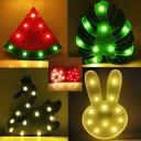 Swan/Strawberry/Leaf Mini LED Night Lamp Stylish Kids Plastic Bedside Battery Wall Night Light in Green/White/Pink