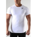 Fancy Men's Tee Top Round Neck Short Sleeves Slim Fitted T-Shirt