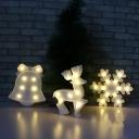 Penguin/Bell/Deer LED Night Lamp Nordic Plastic White Mini Wall Night Light for Christmas Decor