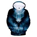New Fashion Galaxy Black Hole Figure 3D Printed Drawstring Hooded Long Sleeve Navy Loose Hoodie