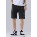 Mens Summer Casual Loose Fashion Flap Pocket Side Straight Fit Cargo Shorts Denim Shorts