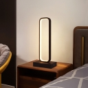 Rectangle Bedside Table Light Aluminum Simple Style LED Night Lamp in Black, White/Warm Light/Remote Control Stepless Dimming