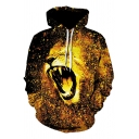 Cool Hoodie Lion 3D Printed Long Sleeve Drawstring Pouch Pocket Relaxed Fit Hoodie