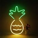 Kids Pineapple USB Powered Night Light Plastic Bedroom LED Wall Hanging Lamp in White