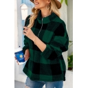 Fashion Girls Sweatshirt Plaid Printed Long Sleeve Stand Collar Zip Up Relaxed Fit Pullover Sweatshirt