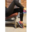 Womens Pants Fashionable Reflective Sweat-Absorbing 7/8 Length Skinny Fitted Yoga Pants