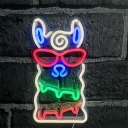 Creative LED Wall Night Light White Alpaca USB Operated Night Lamp with Plastic Shade