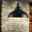 Black Bowl Pendant Ceiling Light Industrial Metal 1 Bulb Dining Room Small/Large Hanging Light Fixture