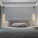 Elongated Oval Wall Mount Lighting Simplicity Aluminum Bedroom LED Wall Sconce in Black, Warm/White/Natural Light