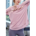 Running Girls T Shirt Plain Quick Dry Long Sleeve Crew Neck Relaxed Fit Tee Top