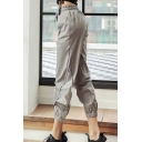 Jogging Girls Plain Pants Quick Dry Drawstring Waist Ankle Length Tapered Fit Pants