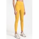 Stylish Women's Leggings Solid Color Quick Dry High Waist Butt Lift Ankle Length Skinny Leggings