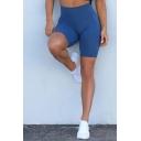 Womens Training Shorts Quick-dry High Rise Plain Stretchy Skinny Shorts