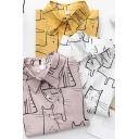 Leisure Women's Shirt Blouse Cartoon Cat Print Button Fly Point Collar Long Sleeve Regular Fitted Shirt Blouse