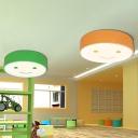 Smiley Patterned Round LED Flushmount Cartoon Acrylic Kindergarten Ceiling Mount Light Fixture