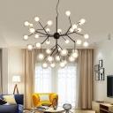 Firefly Living Room LED Ceiling Lighting Clear Glass Postmodern Chandelier Light Fixture