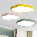 Cloud LED Flush Mounted Light Cartoon Acrylic Kids Bedroom Ceiling Light Fixture