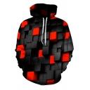 Trendy Men's Hoodie 3D Graphic Sneakers Digital Print Front Pocket Long Sleeve Drawstring Hooded Sweatshirt