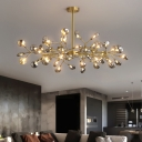 Metallic Branch Chandelier Pendant Light Simplistic LED Hanging Light for Living Room