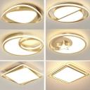Gold Geometry Flush Mount Ceiling Fixture Minimalist LED Acrylic Flushmount Lighting