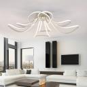 White Flower LED Ceiling Flush Light Minimalist Acrylic Flush Mount Lighting Fixture