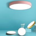 Round Acrylic Ceiling Flush Light Simplicity Macaron-Colored LED Flush Mount Lamp