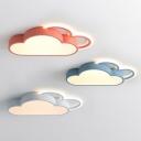 Cartoon LED Flush Mount Ceiling Lighting Fixture Cloud Shaped Flush Light with Acrylic Shade