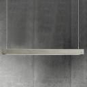 Concrete Bar-Shaped LED Island Light Fixture Simplicity Grey Pendant Lighting for Dining Room