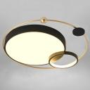 Creative Minimalist LED Flushmount Orbit Shaped Ceiling Light with Acrylic Shade