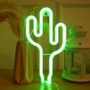 Trendy Decorative Assorted Shape Table Light Plastic Bedroom LED Battery Night Lamp in White