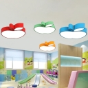 Apple Shaped LED Flush Mount Ceiling Fixture Cartoon Acrylic Kindergarten Flushmount Lighting