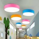 Acrylic Round LED Flush Mount Ceiling Fixture Macaron LED Flush Mount Light for Kindergarten