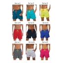 Men's Drawstring Waist Breathable Quick Dry Beach Sport Casual Swim Trunks