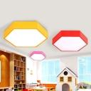 Creative Kids Honeycomb Flush Mount Lighting Acrylic Kindergarten LED Ceiling Mounted Light