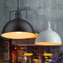 Industrial Pot Lid Ceiling Light Single Metal Hanging Pendant Light for Restaurant