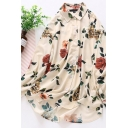 Leisure Women's Shirt Blouse Floral Pattern Button Fly Point Collar Long Sleeve Relaxed Fit Shirt Blouse