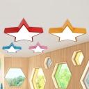 Star Nursery School LED Ceiling Light Acrylic Cartoon Flush Mount Lighting Fixture