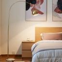 Fishing Rod Metal Standing Light Post-Modern Single Gold Floor Lighting with Marble Base