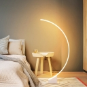 Semicircle Acrylic Floor Light Simplicity White LED Standing Floor Lamp for Bedroom