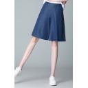 Leisure Womens Shorts Plain High Rise Wide-leg Shorts