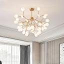 Acrylic Sputnik Firefly Chandelier Light Simplicity Gold LED Pendant Light Fixture